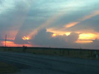 West-central Texas sunset by Talaeladar