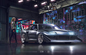 Chevrolet Camaro Future Silhouette 4K