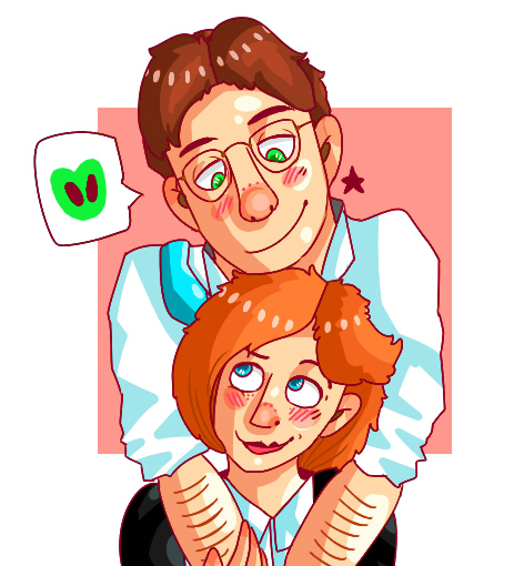 MULDER AND SCULLY by plainwhiteink