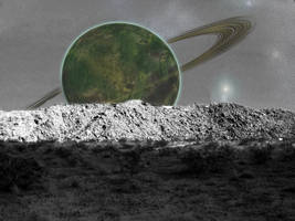 Planet Rise by AmazonSamurai