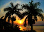 Sunset at Lake Victoria by MarsF