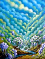 Il respiro del Mondo tra i glicini in fiore by Giappi76