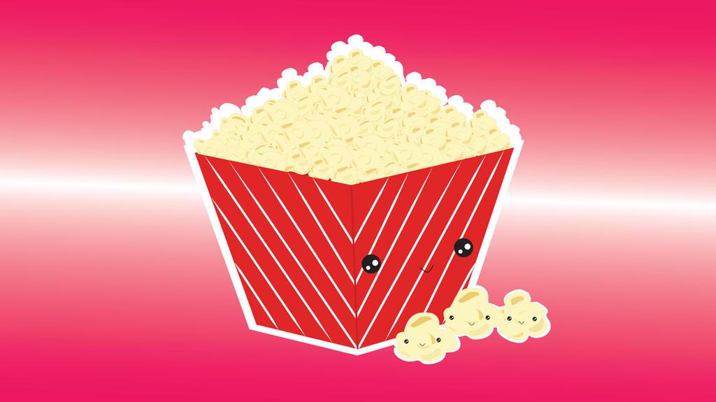 Kawaii Food - Popcorn by amartiia