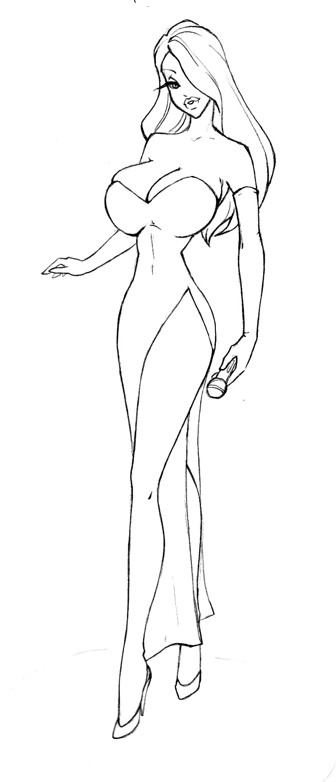Jessica Rabbit Coloring Pages Free | Coloring Pages