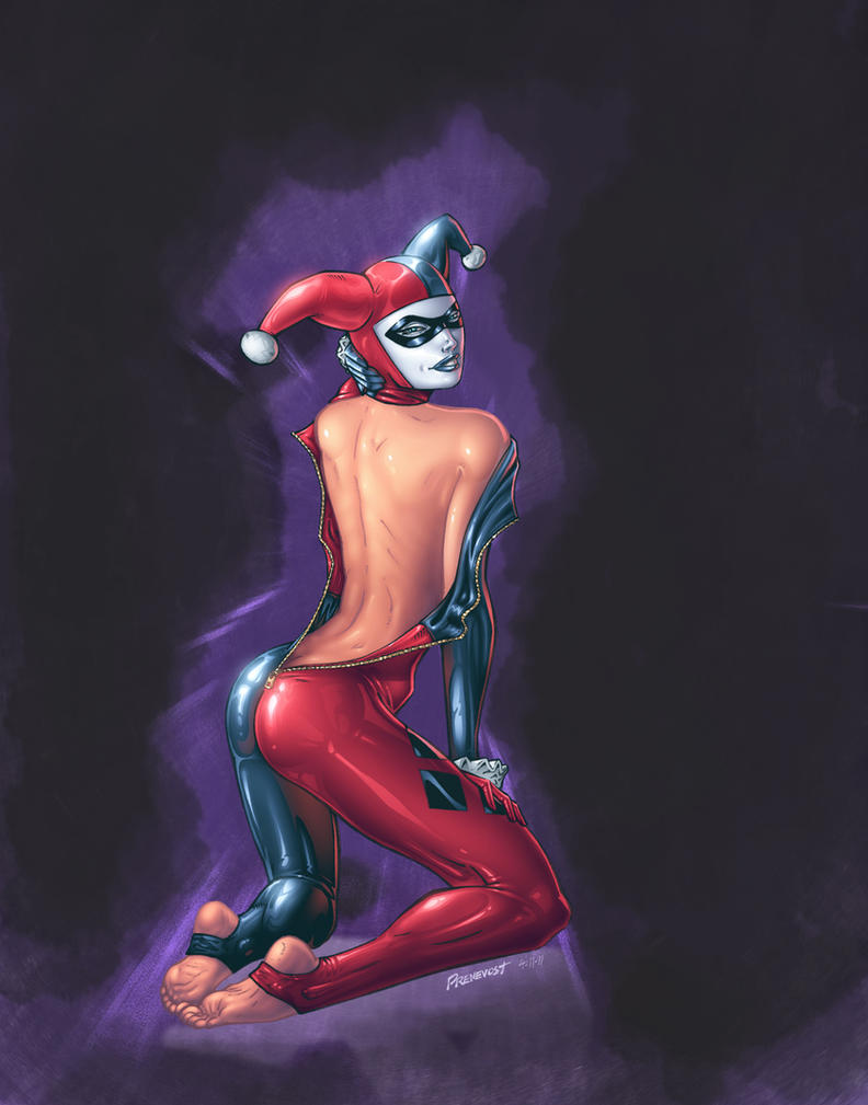 Harley Quinn colored version 1 by warballoon