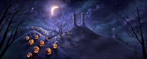 Halloween POP background by warballoon