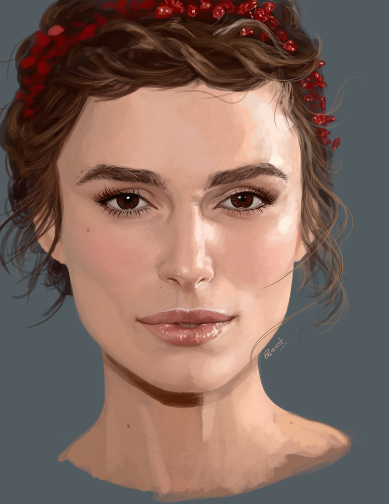 Keira Knightley portrait by warballoon