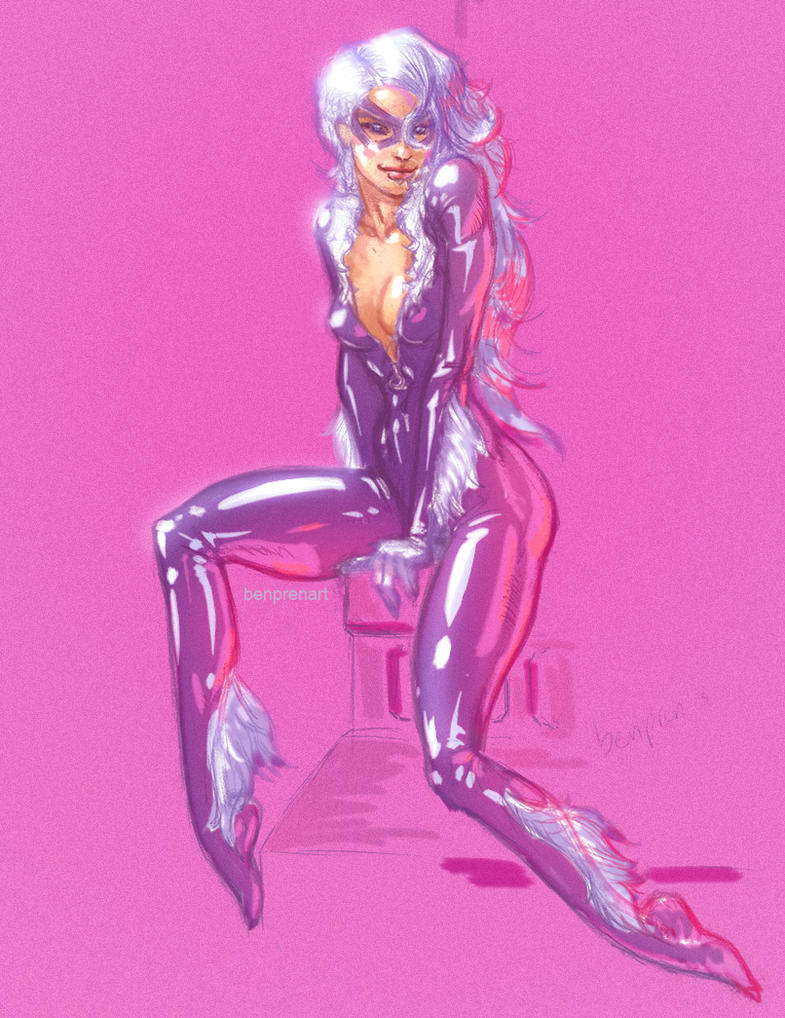 BlackCat sketch by warballoon