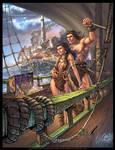 Conan and Belit commish