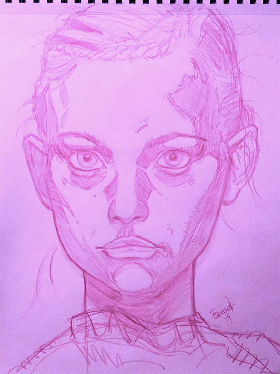 Gemma ward sketch by warballoon