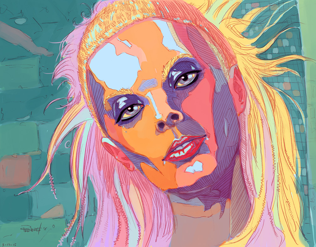 Yolandi in color by warballoon