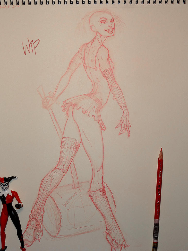 WIP Ballerina Quinn by warballoon