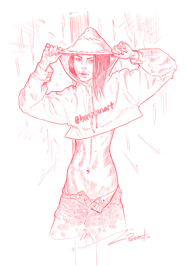 cropped hoodie by warballoon