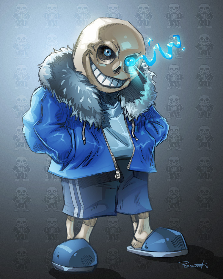 Sans colored by warballoon
