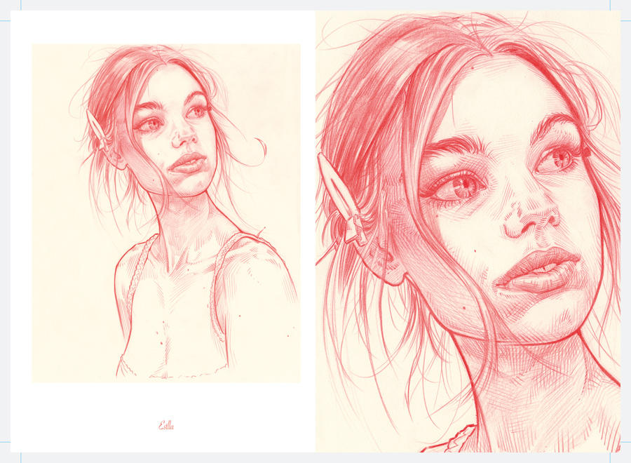 Ben's Red Pencil Girls page of Estella by warballoon