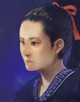 RAKUGAKI of face by k-BOSE