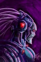 robot bluebot by Tebin-Art