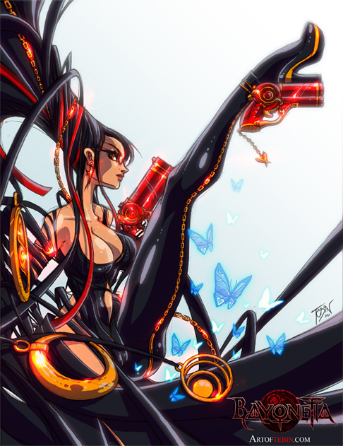 Bayonetta by Tebin-Art