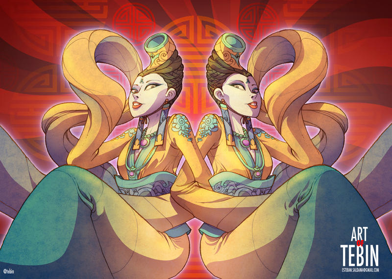 Diosas Asiaticas by Tebin-Art