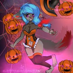 HAPPY Halloween!!(Kleo)DemonFox by DemonFoxStudios