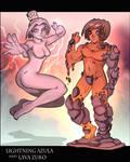 Lightning Azula and Lava Zuko