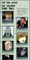 Top Ten Most Vile Villains II by Chronorin
