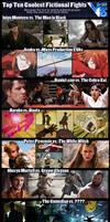 Top Ten Coolest Fictional Fights