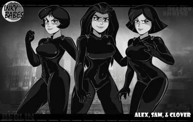 Inky Babes I: Alex, Sam, and Clover