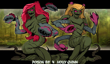 Poison Ivy and Holly Quinn