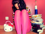 Girl and Pink Tights