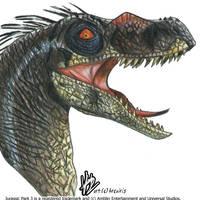 JP3 Velociraptor by ladyiceblue