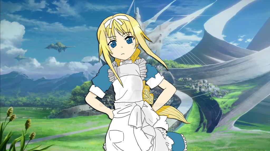 Alice sword art online alicization beginning by rk by - Sword art online alicization wallpaper ...