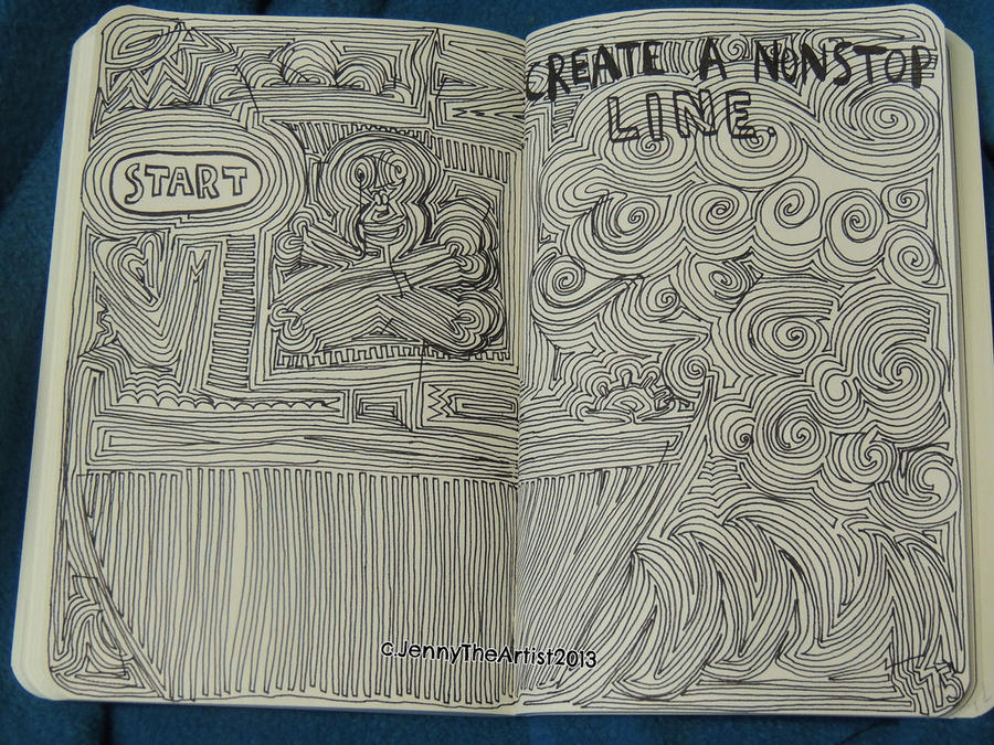 Line Art Journal : Nonstop line wreck this journal by jennyarchibald on