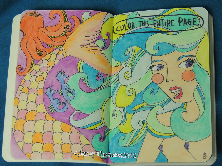 Color The Entire Page - Wreck This Journal by JennyArchibald