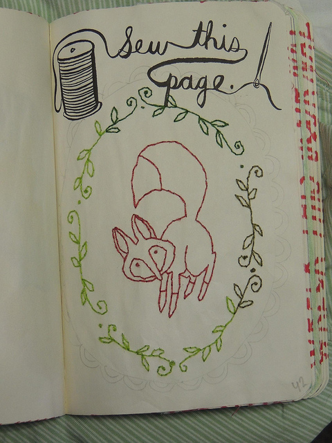 Sew this page - Wreck this Journal by JennyArchibald on ...  Wreck This Journal Sew This Page