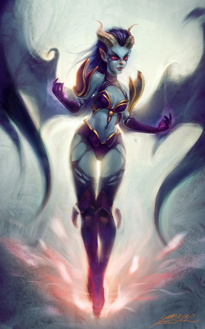 dota2 queen of pain by youngae on deviantart