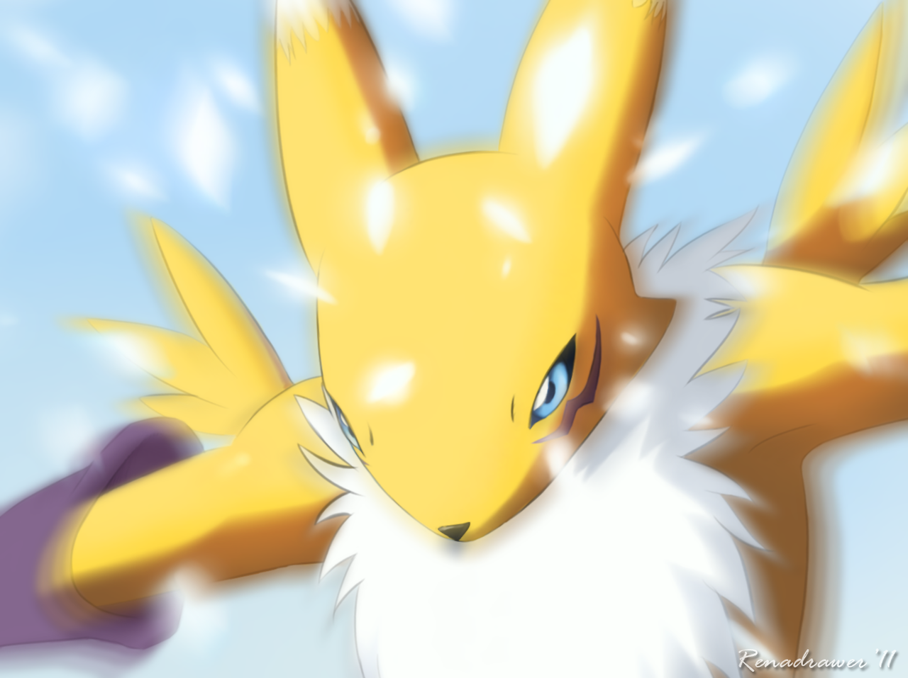 Renamon Diamond Storm by renadrawer