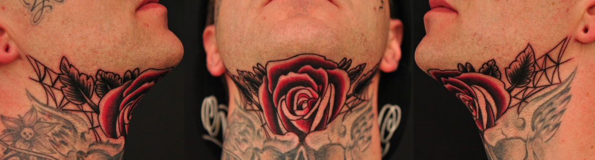 rose on throat by Robert-Franke