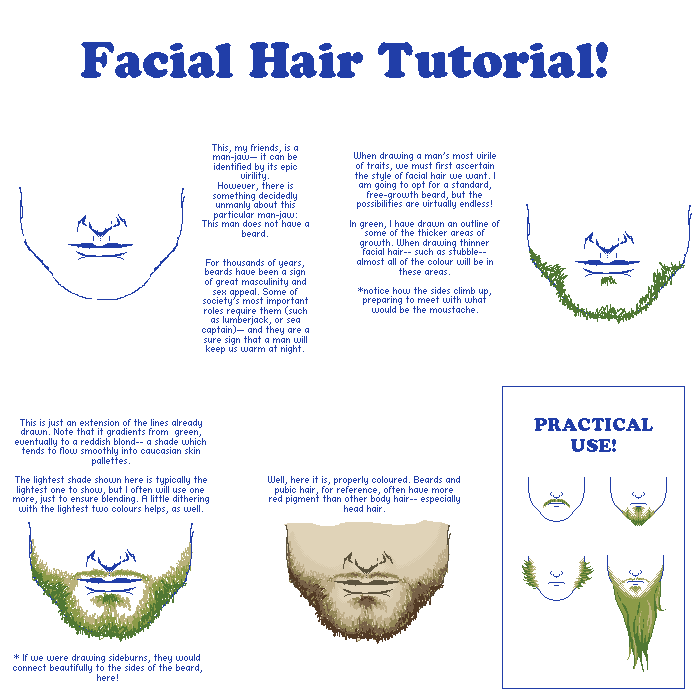 Facial Hair Tutorial by LieutenantSheesha on DeviantArt