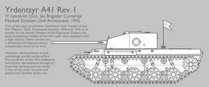 A41 Rev. I Medium Tank [Graphic|Uncoloured] by SixthCircle