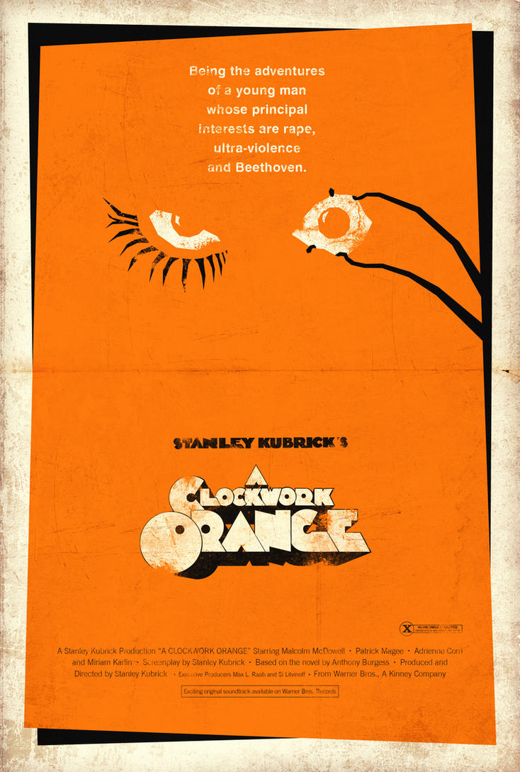 A Clockwork Orange Poster by adamrabalais on DeviantArt A Clockwork Orange Minimalist Poster