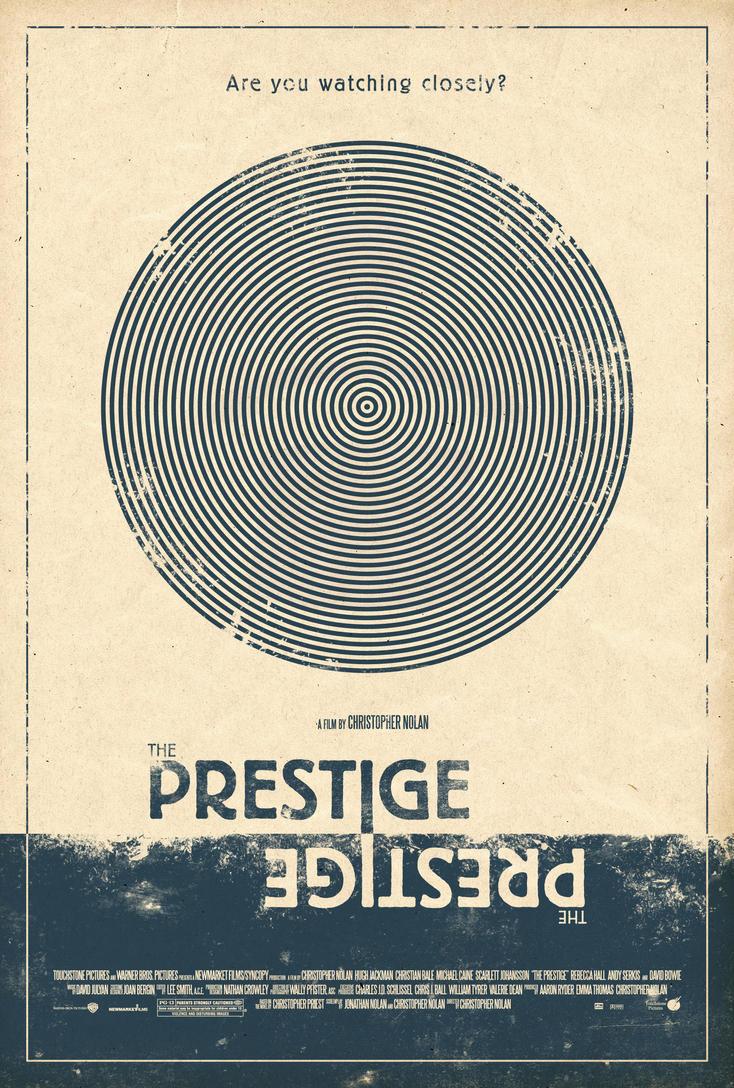 Poster design deviantart - The Prestige Poster By Adamrabalais