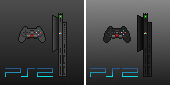 Pixel art, PS2 Slim. by Davidwoodfx