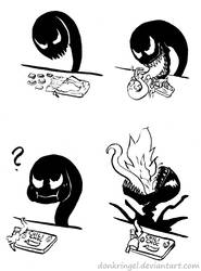 Venom and the decieving chocolate by DonKringel
