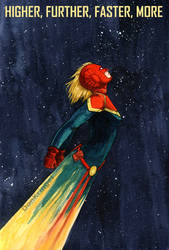 Higher, Further, Faster, More - Captain Marvel by DonKringel