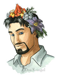 Tony Stark with Flower Crown