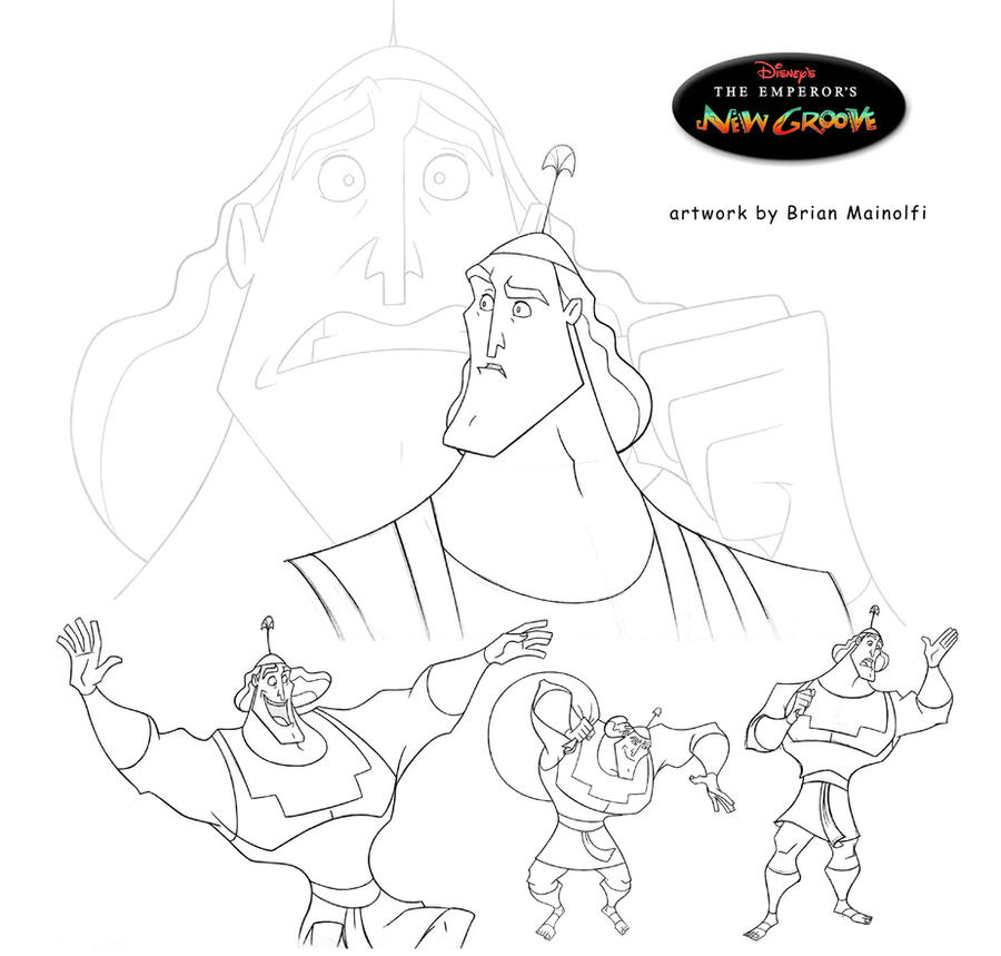 kronk coloring pages - photo#7