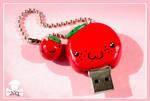 USB red apple charm
