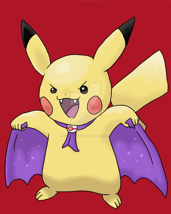 Halloween Pikachu by AquaticMidnight