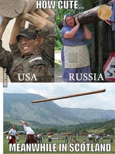USA vs Russia vs Scotland by DragonLoverartis